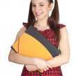 Smiling student woman - Stock Photo