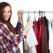 Woman in dressing room — Stock Photo #4873910