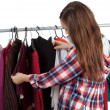 Woman in dressing room - Foto Stock