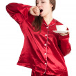 Young woman drinking coffee - Foto Stock