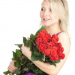 Stock Photo: Young woman with roses