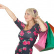 Young woman & coloured shopping bags — Stock Photo #4874430