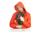 Young womwith roses — Stock Photo #4874596