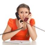 Secretary speaking on the phone — Stock Photo #4875126