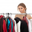 Woman in dressing room — Stock Photo #4875154
