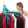 Woman in dressing room — Stock Photo #4875158