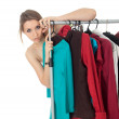 Woman in dressing room — Stock Photo #4875160