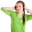 Woman in headphones — Stock Photo #4876439