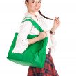 Stock Photo: Womand shopping bag