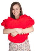 年轻的女人的心 — 图库照片