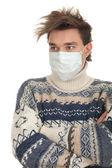 Hombre de la máscara protectora — Foto de Stock
