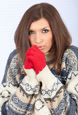Young woman in sweater — Stock Photo