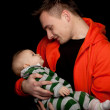 Happy young father and baby boy — Stock Photo #4953870