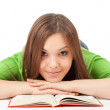 Young woman with book, series — Stock Photo #5001302