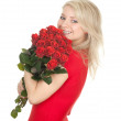 Young woman with roses — Stock Photo #5048279