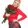 Young woman with roses — Stock Photo #5048288