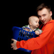 Happy young father and baby boy — Zdjęcie stockowe