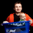 Happy young father and baby boy — Stock Photo #5048512