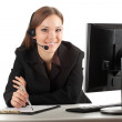 Young callcenter agent lady — Stock Photo #5100298