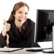 Young callcenter agent lady — Stock Photo #5100309