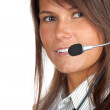 Young callcenter agent lady — Stock Photo