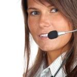 Junge Callcenter Agent lady — Stockfoto