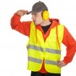Worker in protective waistcoat — Stock Photo #5169994