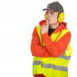 Worker in protective waistcoat — Stock Photo #5169997