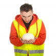 Worker in protective waistcoat — Stock Photo #5170002