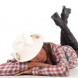 Stock Photo: Western womin cowboy hat