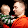 Happy young father and baby boy — Stock Photo #5208198