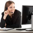 Young callcenter agent lady - Stock Photo