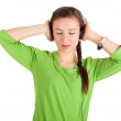 Young girl listening music - Photo
