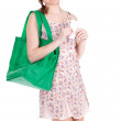 Woman and shopping bag — Stock Photo