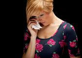 Crying youg woman — Stock Photo