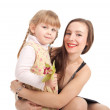 Little girl with mother — Stock Photo