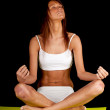 Young woman meditating — Stock Photo #5319307