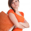 Girl with shopping bags - Lizenzfreies Foto