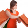 Young woman holding shopping bags - Foto Stock