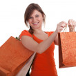 Girl with shopping bags - Stockfoto