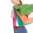 Young woman holding shopping bags — Stock Photo #5343972