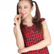 Smiling beautiful girl with lollipop - ストック写真