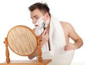 Tıraş adam, serisi — Stok fotoğraf