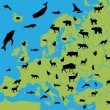 animales de Europa — Vector de stock  #5303624