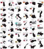 Země evropy — Stock vektor