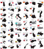 欧洲国家 — 图库矢量图片