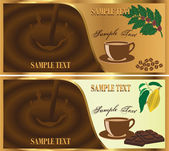 Chocolate and coffee — Vector de stock