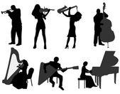 музыканты — Cтоковый вектор