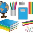 Stock Vector: School belongings
