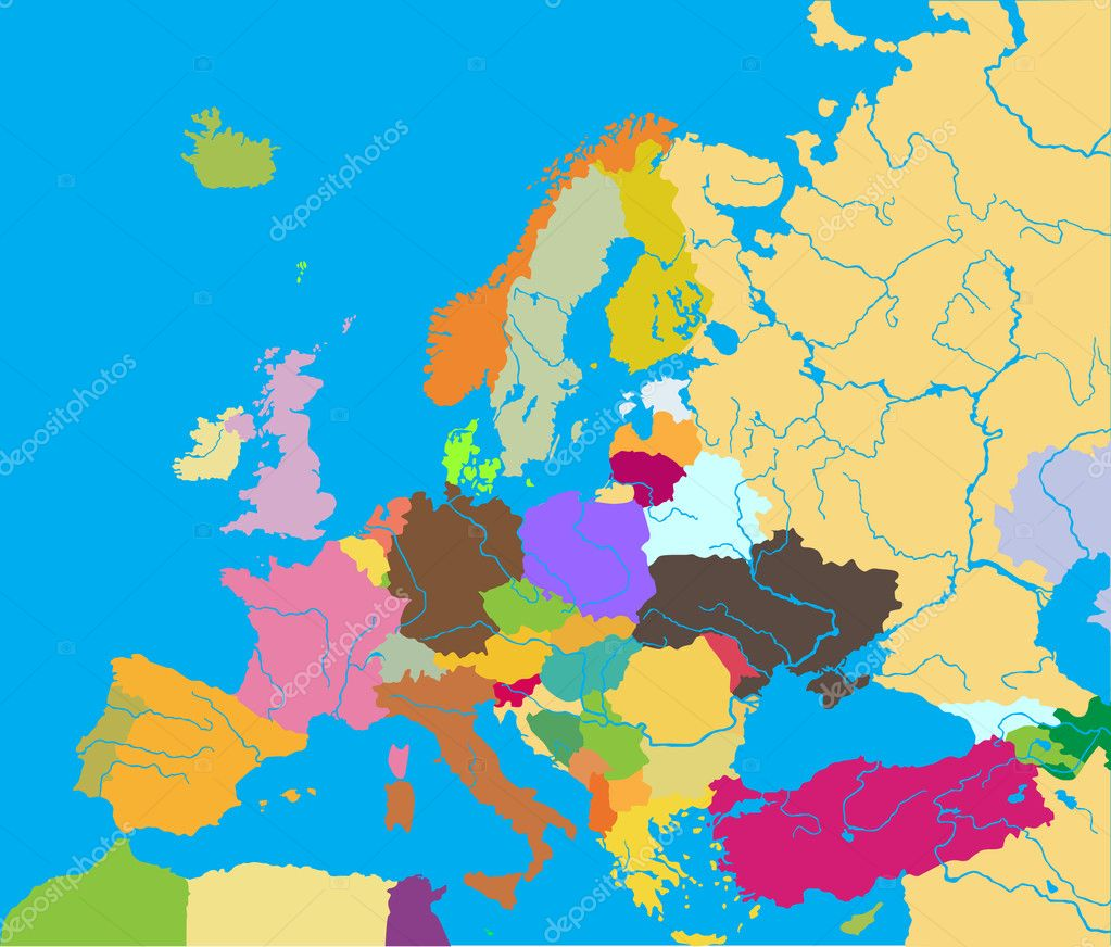 vector illustration of europe - photo #36
